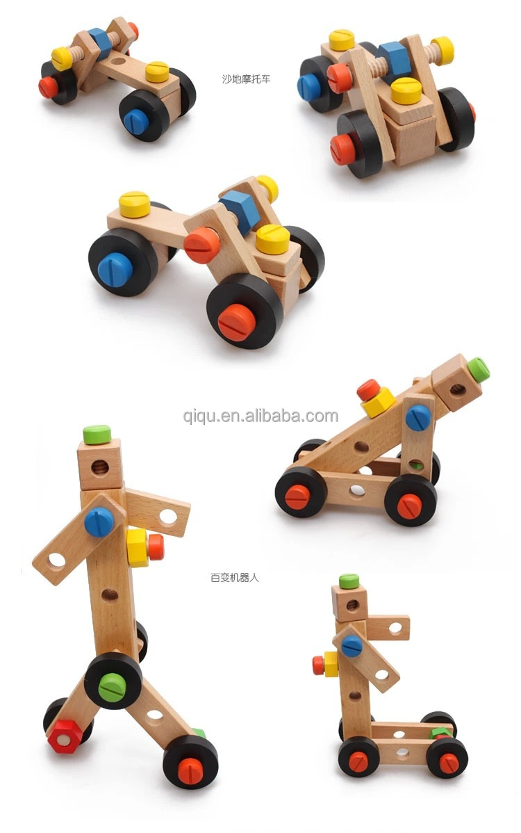 015 new diy wooden tools chair toy for kids wooden construction
