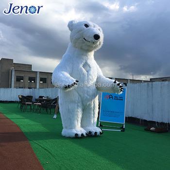 inflatable costume plush inflatable polar bear for christmas decoration - Polar Bear Inflatable Christmas Decorations
