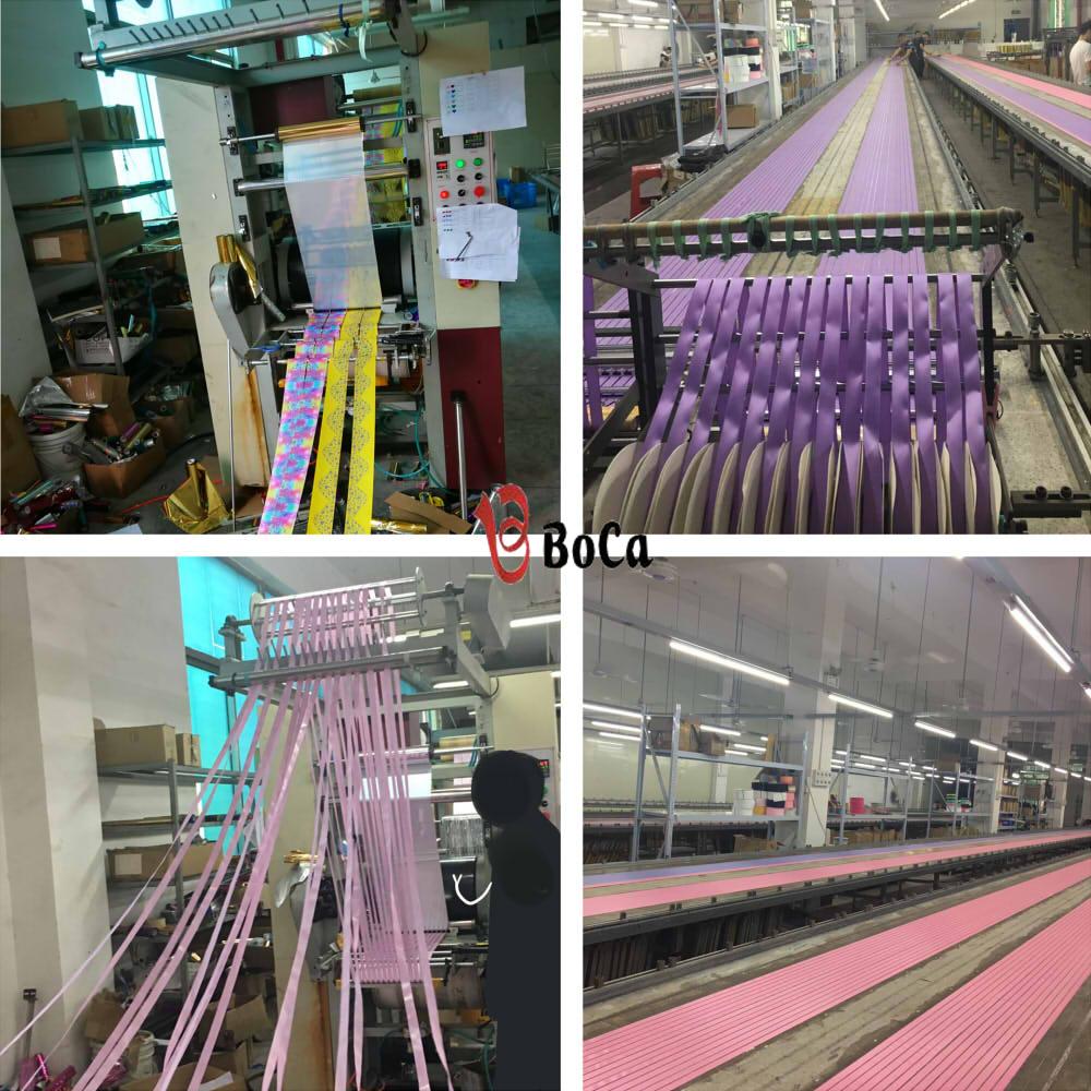 Nueva cinta de grogrén con patrón de impresión 75mm 1 yarda Efecto De Brillo Arco Iris Stat