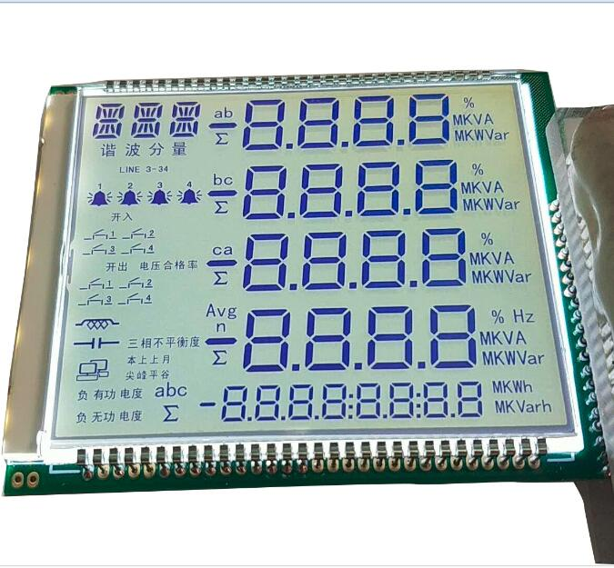 Nach FSTN lcd display modul 24 digit 7 segment monochrome lcd panel für elektrische power meter