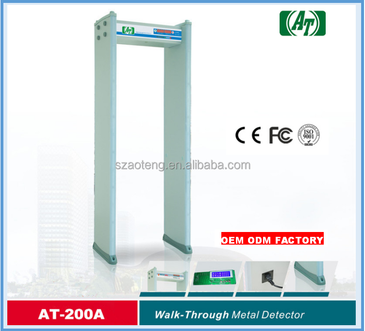 China supplier airport security check LED display Walk through Metal Detector gate AT-200A