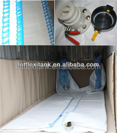 Water Bladder Flexitank Container For Transportation With Flexitank Heating Pad
