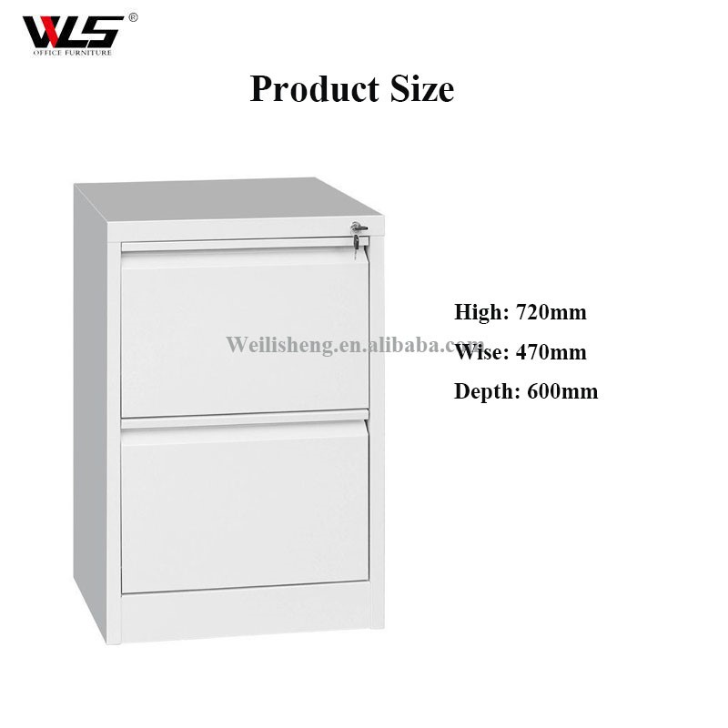 Assemble DIY steel 2 drawers storage cabinet filing cabinet