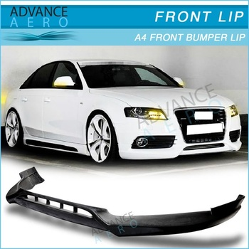 For 09 12 Audi A4 B8 Reiger Style Pu Poly Urethane Front Bumper Lip