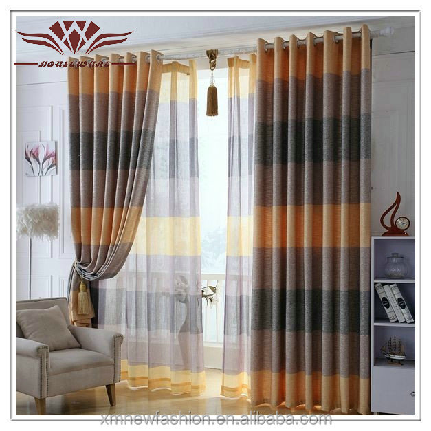 Red Faux Silk Rod Pocket Curtain