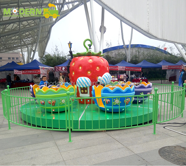 newest style fairground family rides 2.6m height tea cup ride for sale