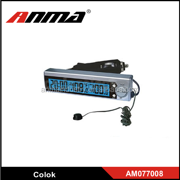 12V Voltage Monitor Battery Car Alarm Clock