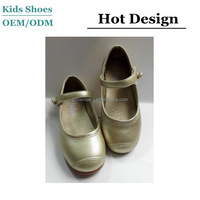 J-D0278 Lovely gold children shoes baseball sport style princess shoes fashion gilrs dance shoes manufacturers china
