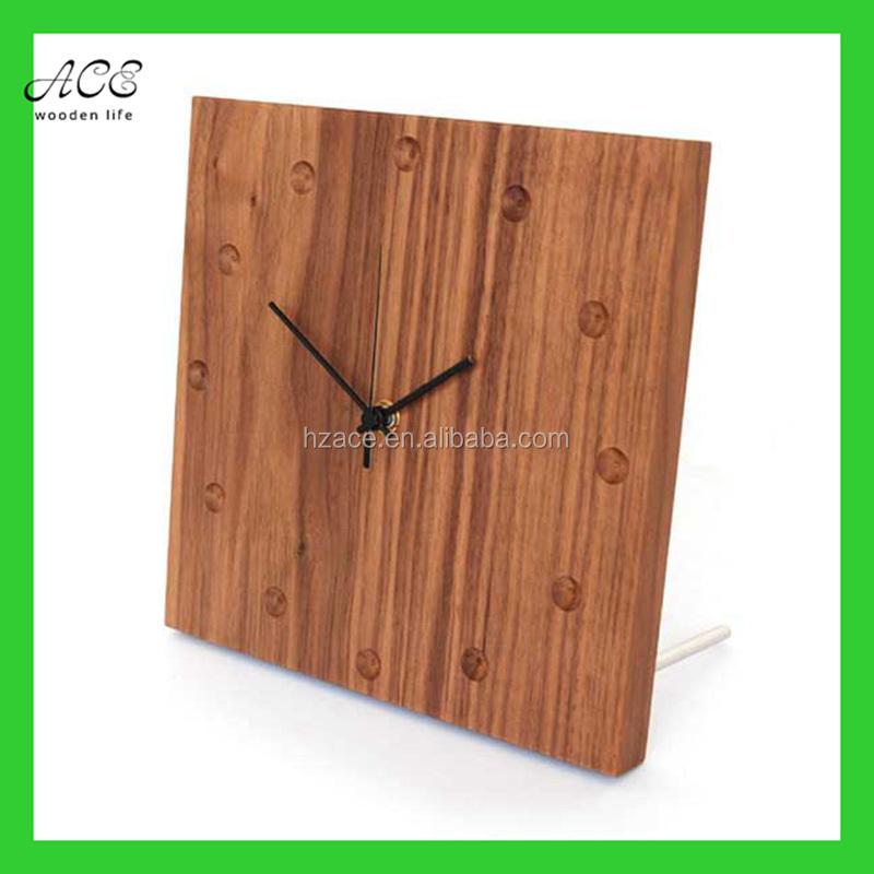 Home Goods Clocks: Custom Wood Wall Clock Home Decorative Wood Wall Clock