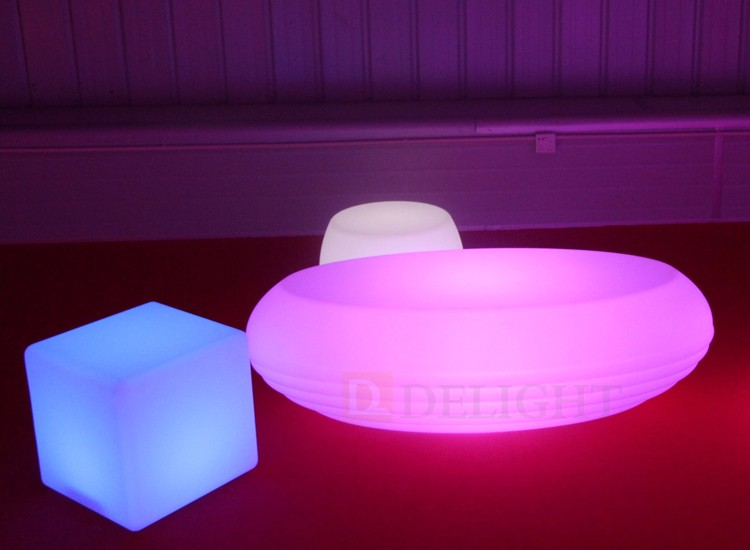 Modern New Design Glowing Furniture LED Lounge Coffee Table Plastic Light  Up Table