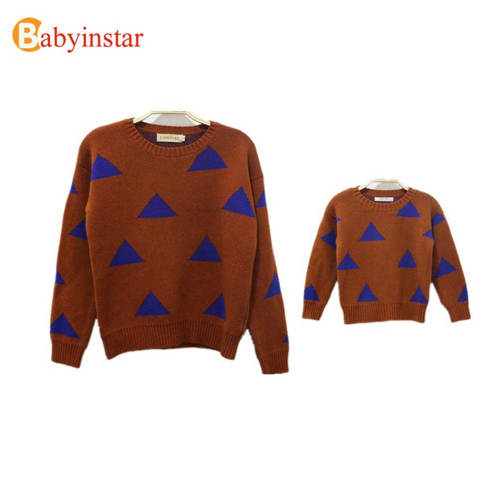 Autumn Winter Fashion Sweater Sets For Son Monther Daughter 2016 Family Look Family Matching Outfits Outwear