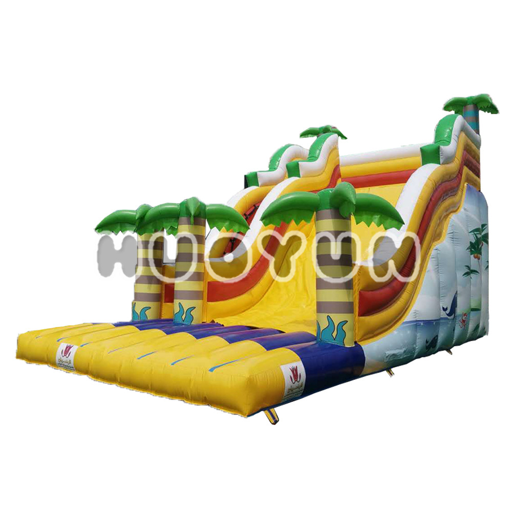 2018 Guangzhou Indoor Playground Land Dry Kids Inflatable Slide