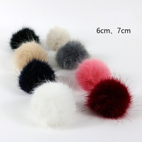 Factory direct faux mink fur pom pom ball 6cm7cm clothing shoes and hats accessories