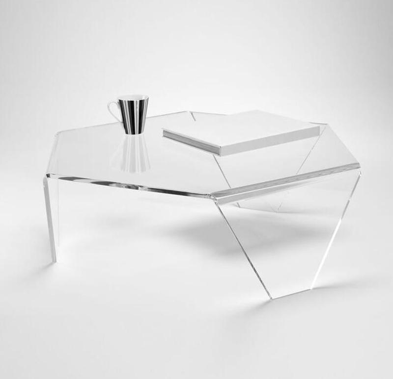 3 Legs New Design Clear Plastic TableModern Acrylic Coffee Table