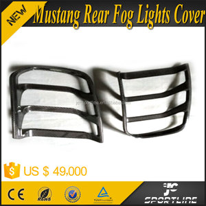 Carbon Fiber Mustang Rear Bumper Fog Lamps Cover for Ford Mustang 2015UP