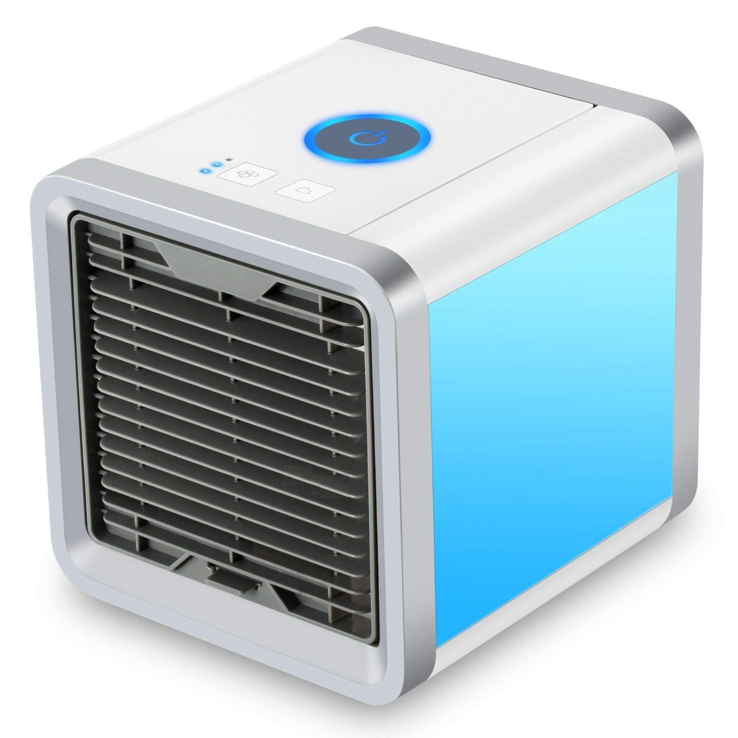 Personal Space Air Cooler, 3 in 1 USB Mini Portable Air Conditioner, Humidifier, Purifier and 7 Colors Nightstand,Desktop Cooling Fan for Office Home Outdoor Travel