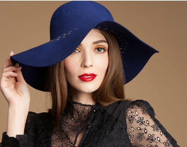 50416c40b46b2 2015 de lana de moda sombrero de fieltro blanco al por mayor ...