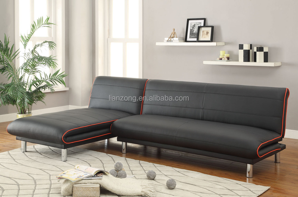 PU leather sectional Sofa Bed /corner sofa bed LZ744