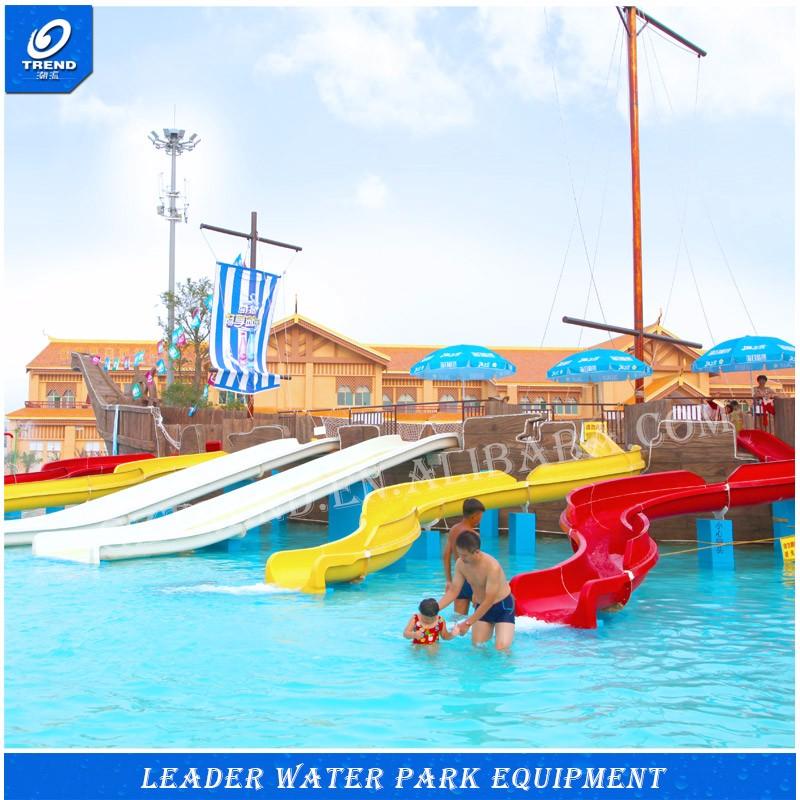 2017 security fiberglass kids water park indoor swimming pool water slide new design buy for Child alarm for swimming pools