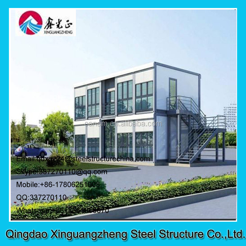 Light steel structure container material prebuilt office