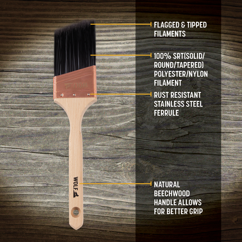 Professional Hand Tools 2.5 Inch Angled Paint  Brush,Bulk Paint Brushes From US Warehouse