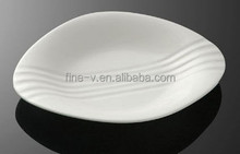 Porcelain Irregular Shaped Dish and Plate Hotel Main Plate
