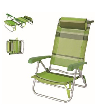 Personalized Comfortable Folding Aluminum Lying Beach Chair