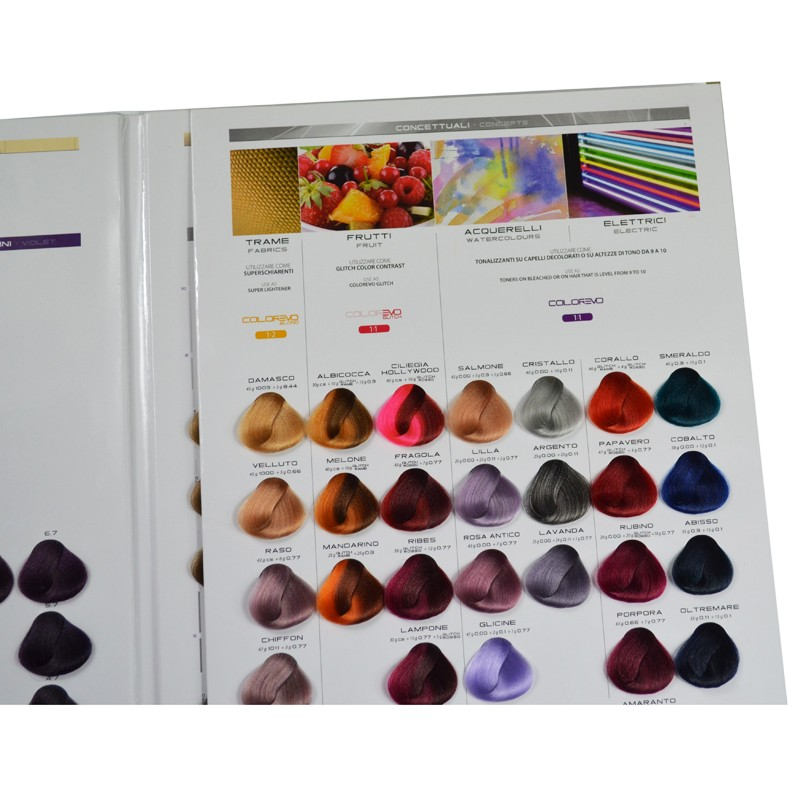 iso hair color swatch book professional hair color swatch book for hair dye - Hair Color Swatch Book