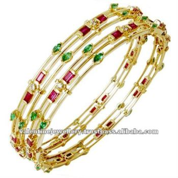 silver from in anniversary jewelry gift emerald women gemstone natural green bangles bracelet item bracelets accessories