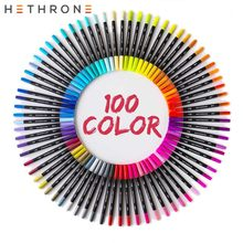 100 шт., маркеры для рисования Hethrone, с двойной головкой(Китай)