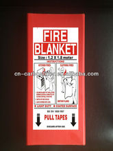 Fire blanket, packed by pvc box 1.2 M X 1.2 M