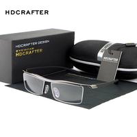 Business Men Titanium Half-rim Spectacle Frame Eyeglasses