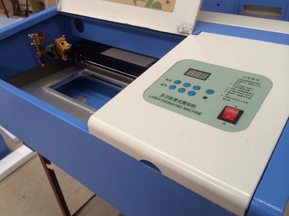 small size laser stamp rubber engraving machine, laser seal maker 3020