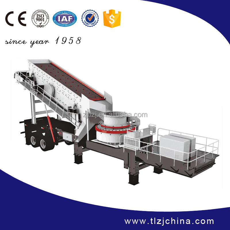 High efficiency mobile cone crusher with CE ISO certification