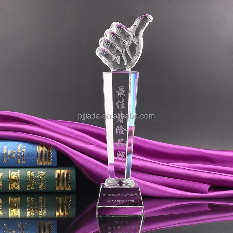Wholesale optical business crystal glass shield awards corporate awards crystal trophy