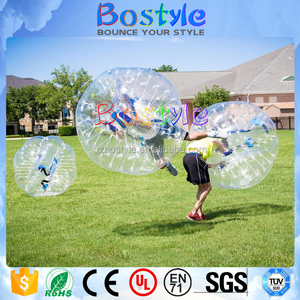 Funny playing toys giant bubble ball inflatable air bouncing bumper ball for soccer