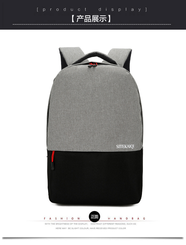 Latest Casual oxford cloth women backpack Simple Blank laptop backpack waterproof