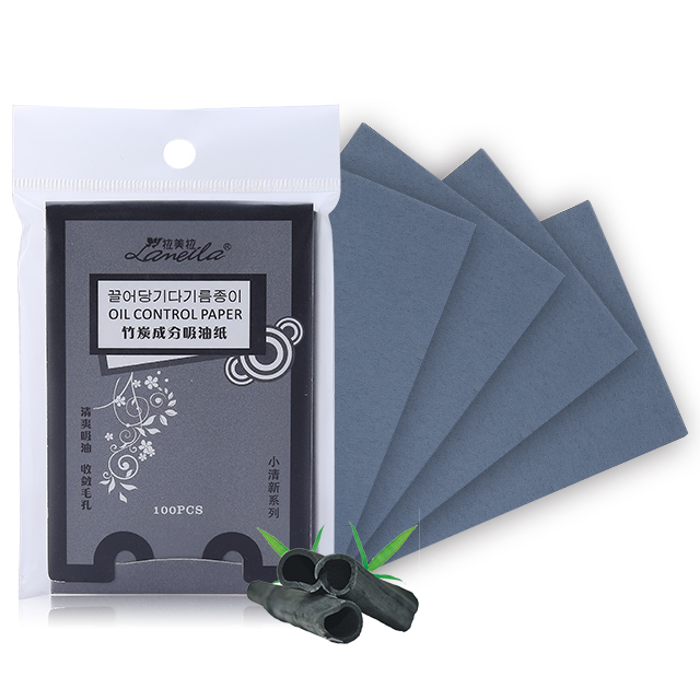 OEM hot sale bamboo charcoal oil absorbing tissues face oil blotting paper