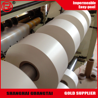 Good glossy 80gsm single side silicone coated glassine paper