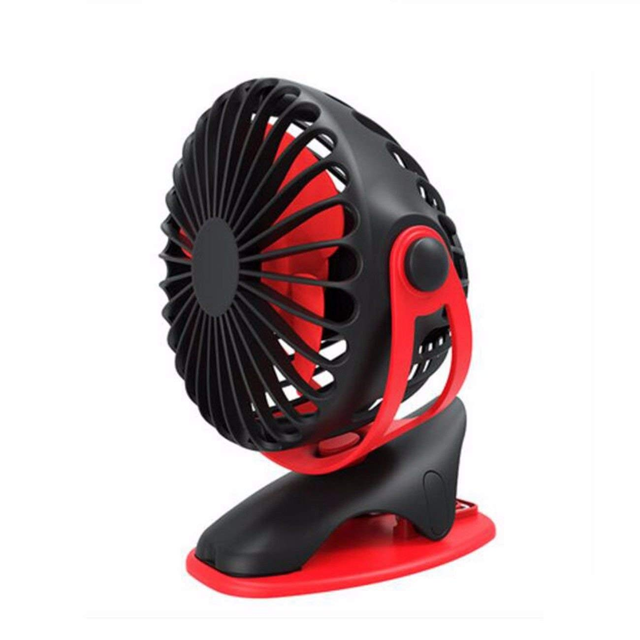USB Desk Fan Table Fan Small fan usb mute wind force portable charging student portable USB mini car office desk holder, B
