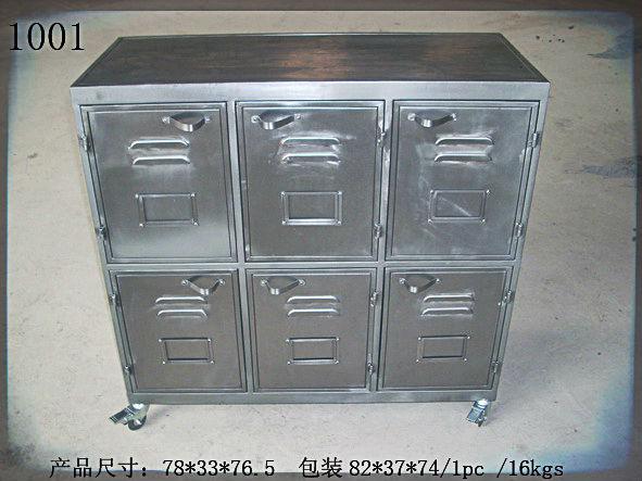 Handicraft Desk Top Case Commercial Furniture Vintage Style Metal Office  Steel Filing Cabinet