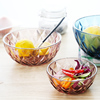 Haonai colored glass bowl fruit salad bowl glass mixing bowl with classical design