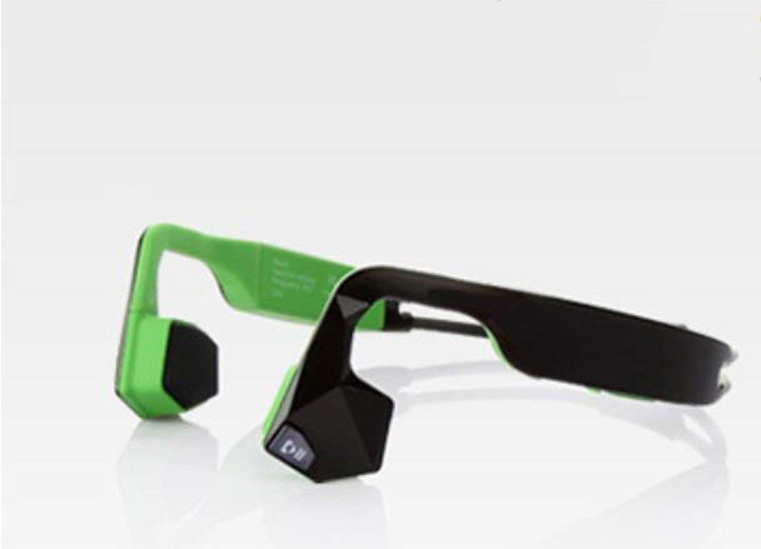 Hzhy Bone Conduction Headphone Ear-mounted Car Wireless Sports Running Sweat-proof Waterproof Bone Conduction Bluetooth Headset 4.1 Driving, Riding, Traveling (Color : Green)