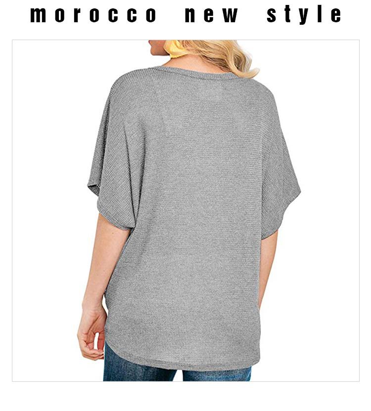 Женская пустая футболка с коротким рукавом Футболка