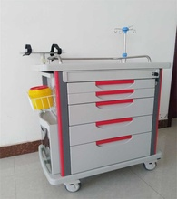 New Product Hospital Medical Abs Crash Cart With Center Lock