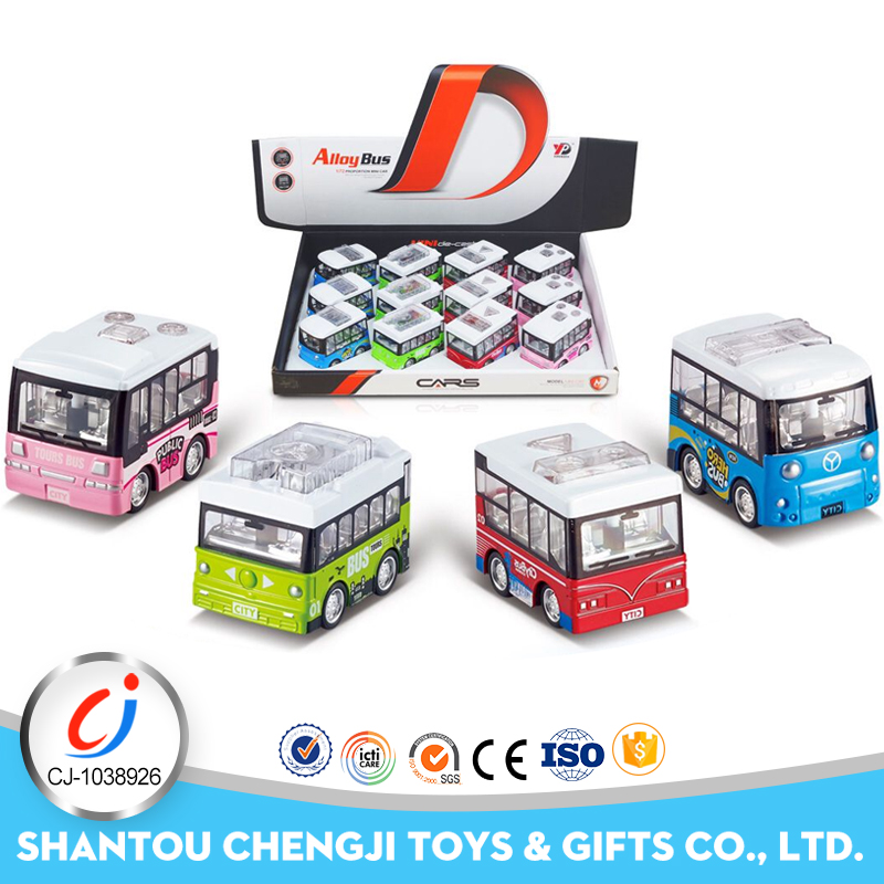Hot fashion kids small scale version bus toys metal car collection