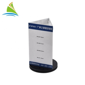 Fashionable free display stand rotating advertising acrylic display stand