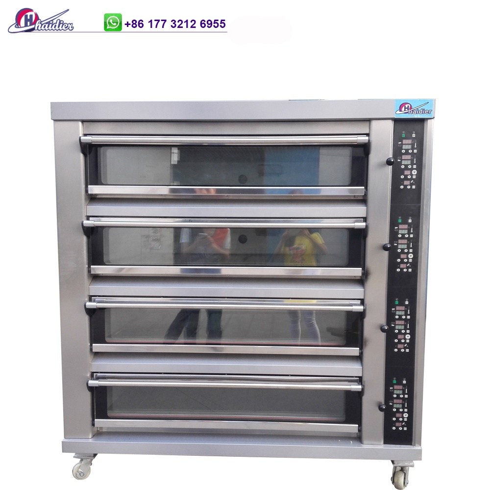 large scale electric deck oven price bread cake baking ovens