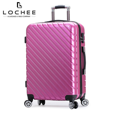 "ABS 24"" Pink Hardshell Fancy Travel Globalway Luggage For Sale"