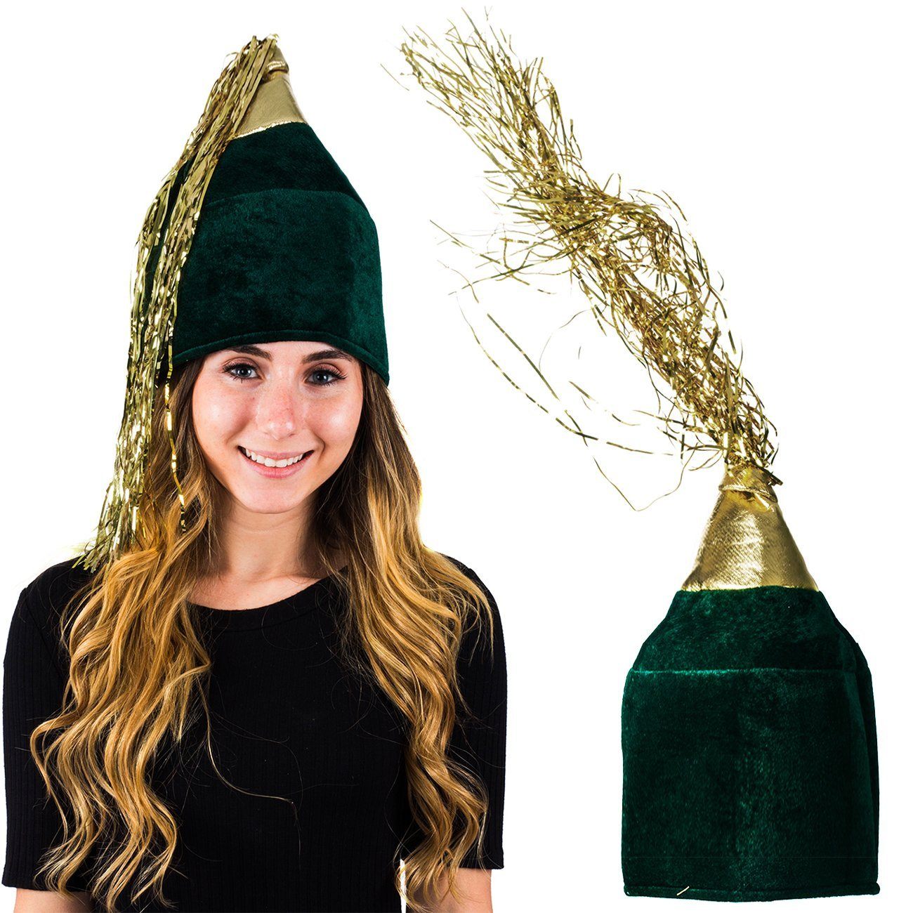 13344e86242 ... Dress Up by Tigerdoe 10.99. Champagne Bottle Costume Hat- Bottle Head  Hat - Costume Hats - Champagne Bottle Costume by